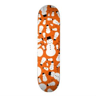 Orange snowmen 19.7 cm skateboard deck