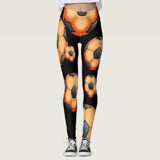 Orange Soccer Balls Leggings