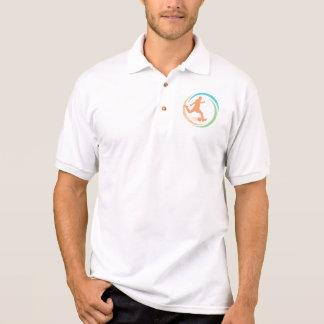 Orange Soccer Circle Logo Polo Shirt