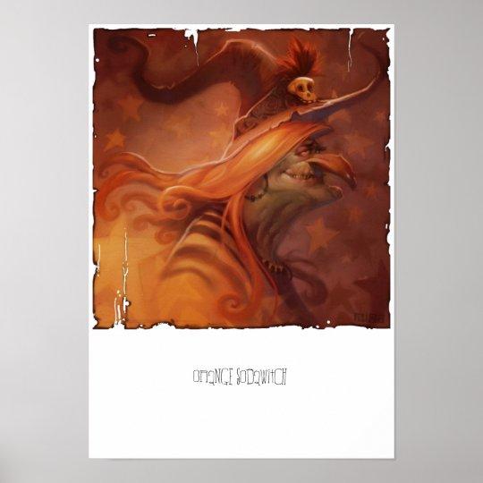 Orange Sodawitch Canvas Print