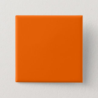 Orange Solid Color Background Template 15 Cm Square Badge