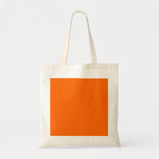 Orange Solid Color Background Template Canvas Bags