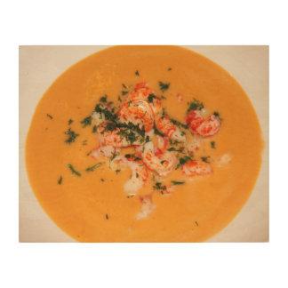 Orange soup wood canvas
