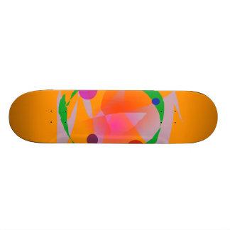 Orange Space 21.6 Cm Skateboard Deck