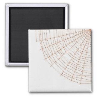 Orange Spider Web Magnet