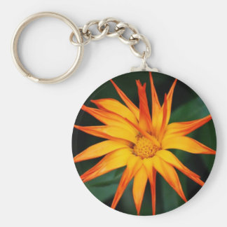 Orange Spikes Basic Round Button Key Ring