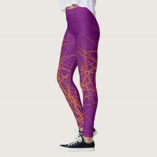 Orange spiky leggings