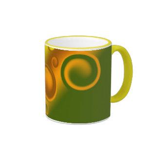 orange spiral Mug