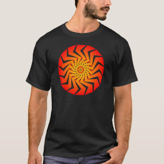 Orange Spiral Pattern: Vector Art: T-Shirt