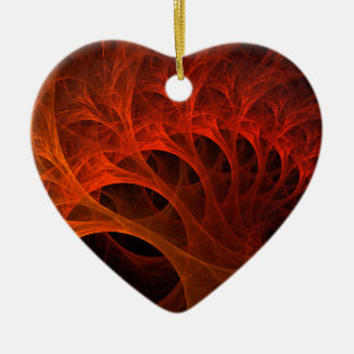 Orange Spirals Of The Mind Christmas Ornament