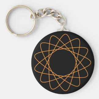 Orange Spirograph Key Chains