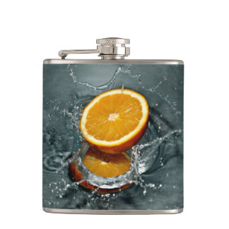Orange Splash custom flask