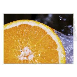 Orange Splash Greeting Card
