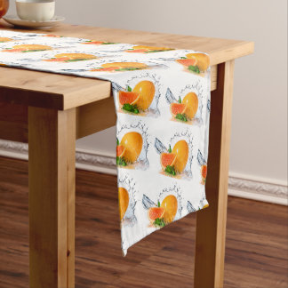 Orange Splash Long Table Runner