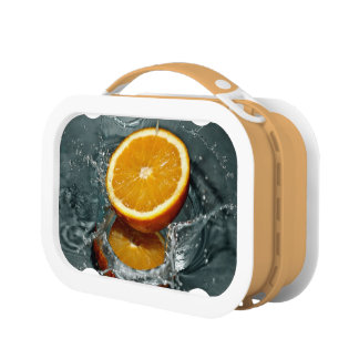 Orange Splash lunch boxes