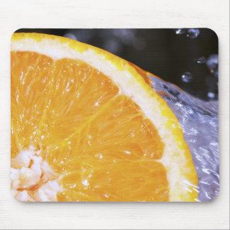 Orange Splash Mouse Pad