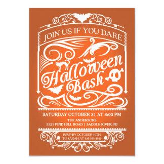 Orange Spooky Gothic Halloween Invitation