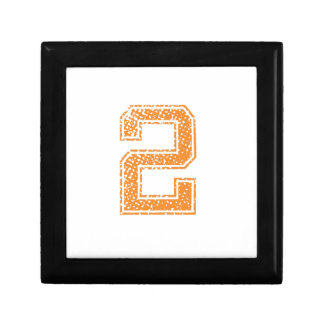 Orange Sports Jerzee Number 02.png Small Square Gift Box