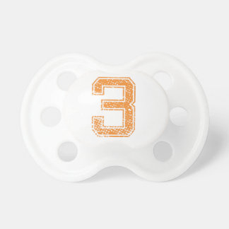 Orange Sports Jerzee Number 03.png Baby Pacifier