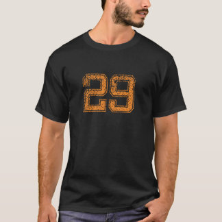 Orange Sports Jerzee Number 29.png T-Shirt