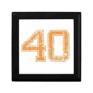 Orange Sports Jerzee Number 40.png Small Square Gift Box
