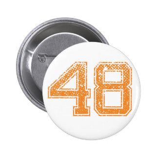 Orange Sports Jerzee Number 48.png 6 Cm Round Badge
