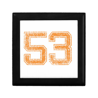 Orange Sports Jerzee Number 53.png Small Square Gift Box