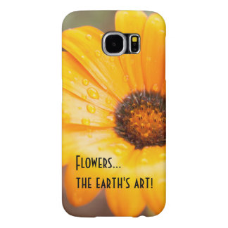 Orange Spring Flash African Daisy Photograph Samsung Galaxy S6 Cases