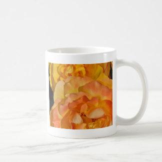 Orange spring rose blossoms mug