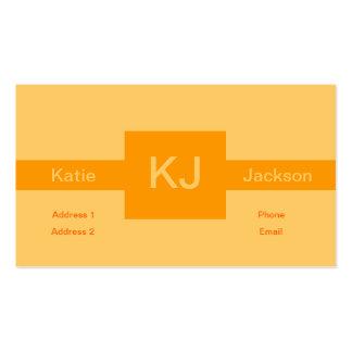 Orange Square Business Card Template