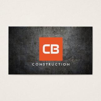 Orange Square Monogram Grunge Metal Construction