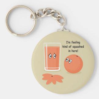 Orange Squash Basic Round Button Key Ring