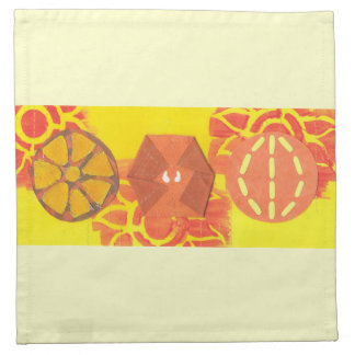 Orange Squash Dance Napkins
