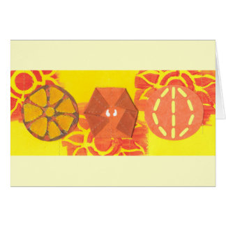 Orange Squash Dance Notecard
