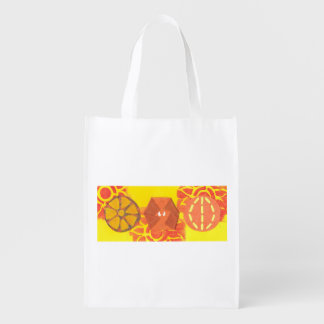 Orange Squash Dance Reusable Bag