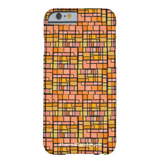 Orange Stained Glass Barely There iPhone 6 Case