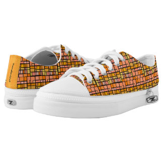 Orange Stained Glass Low Tops