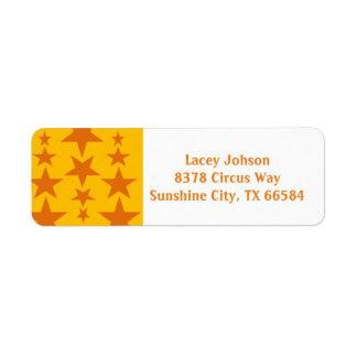 Orange Star Address Labels