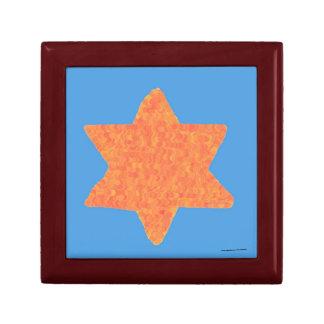 Orange Star of David keepsake box
