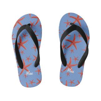Orange Starfish Kid's Flip Flops