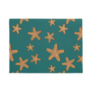 Orange Starfish Pattern Doormat