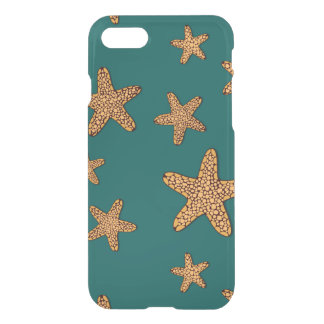 Orange Starfish Pattern iPhone 8/7 Case