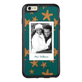 Orange Starfish Pattern   Your Photo & Name OtterBox iPhone 6/6s Plus Case
