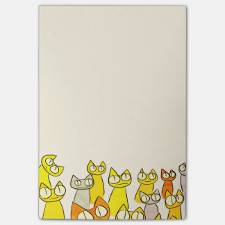 Orange Staring lot Cats Post-it Notes