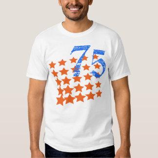 ORANGE STARS AND NUMBER 75 SHIRT