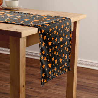 Orange Stars | Halloween Decorative Short Table Runner