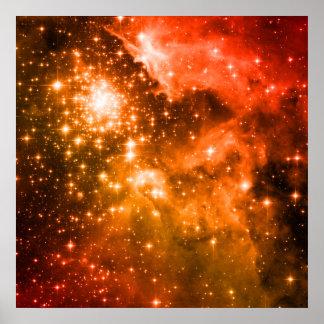 Orange Stars Poster