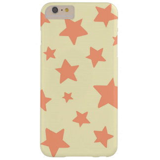 Orange Stars with Cream Background Barely There iPhone 6 Plus Case