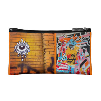 ORANGE Street Art Cosmetics Bag