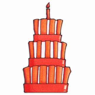 Orange Striped Cake Photo Sculpture